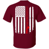 Fishing Nation Flag - Red Fishing Rod - Plus Sizes Fishing T-Shirt