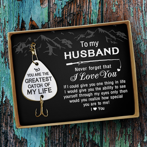 Wife To Husband - I Love You - Fishing Hook