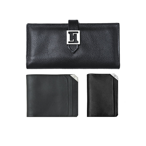Impulse Wallet, Card Holder & Vogue Set (Black)