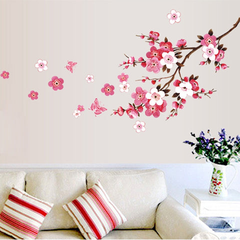 120x50cm Cherry Blossom flower Wall Stickers Waterproof living room bedroom Wall decals 739 Decors Murals poster
