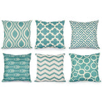 New Geometric Cushion Cover 45X45cm 6PCS Fashion Home Decorative Throw Pillow Cover