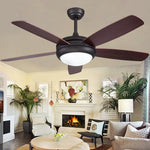 42/48 /52Inch Vintage 5 Blades LED ceiling  fans Industrial Wood Ceiling Fans with Light Decorative Home Ceiling Fans