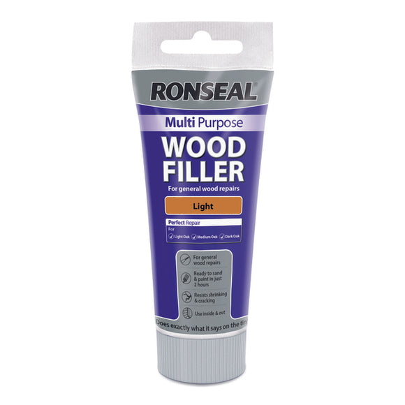 Ronseal Multi Purpose Wood Filler Tube 100g Light