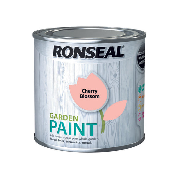 Ronseal Garden Paint 250ml Cherry Blossom