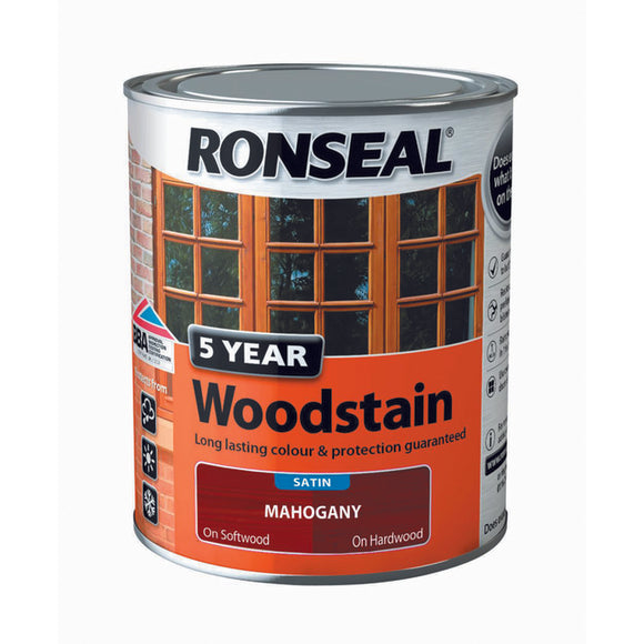 5 Year Woodstain 750ml Mahogany