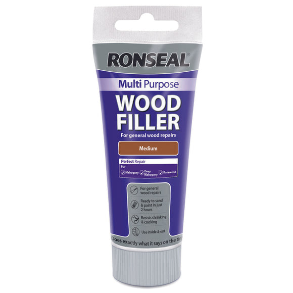 Ronseal Multi Purpose Wood Filler Tube 100g Medium