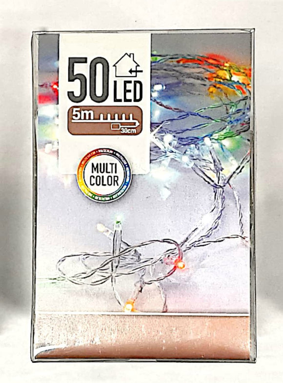 50 Naked Wire Wire Lights Multicoloured