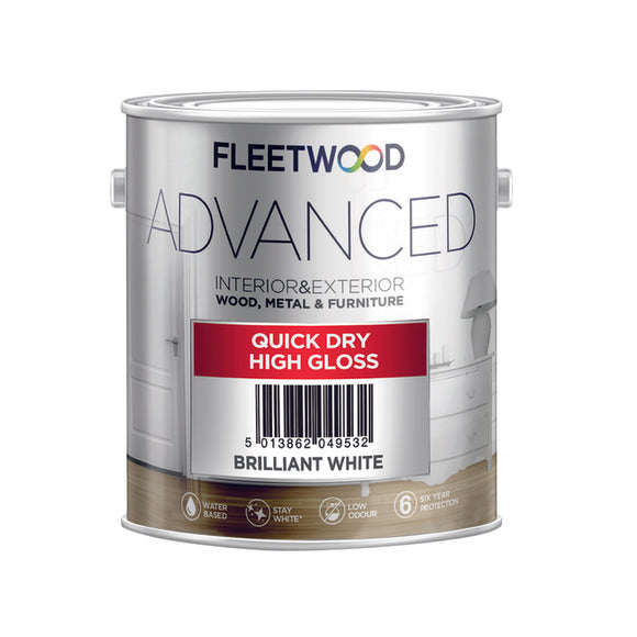 Fleetwood Advanced Gloss Brilliant White 2.5Ltr