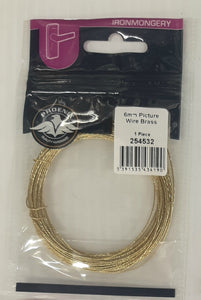 6m Picture Wire Brass (1)