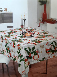 Table Oilcloth - Christmas Holly