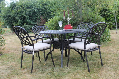 Cooley Cast Aluminium 4 Seater Set