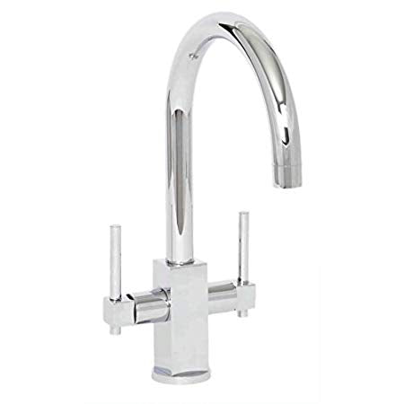 Crail Twin Lever Mono Kitchen Sink Mixer Tap
