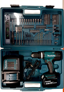 Makita 18v Li-Ion Combi Drill 3.0Ah with Accessory Set