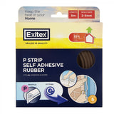 Draught Excluder Rubber P Strip Brown 5m
