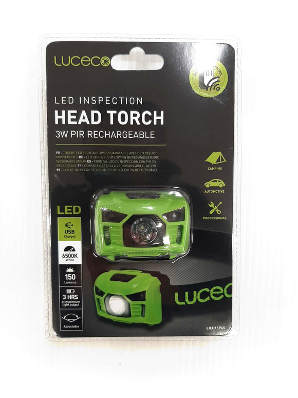 Luceco LED Rechargeable Head Torch