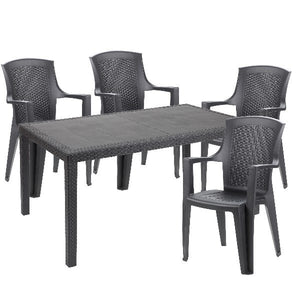 Prince Rattan Effect Table & Chairs