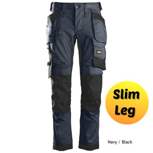 Snickers 6241 Navy/Black Slim Leg Trousers