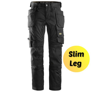 Snickers 6241 Black Slim Leg Trousers