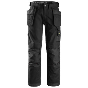 Snickers 3214 Black Work Trouser & FREE T-Shirt