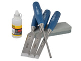 Stanley Chisel Set with Stone and Oil 6pc