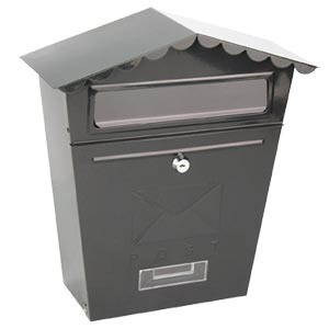 Traditional Post Box Black