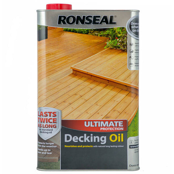 Ronseal Decking Oil 5lt (25% Extra Free) Natural