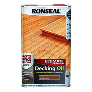 Ronseal Decking Oil 5lt (25% Extra Free) Natural Cedar