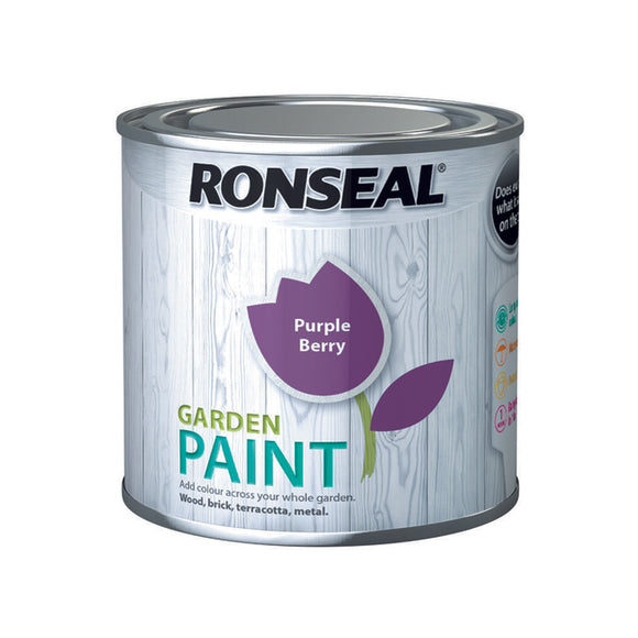 Ronseal Garden Paint 250ml Purple Berry