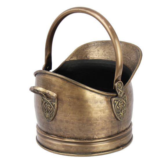 Heritage Celtic Antique Brass Bucket
