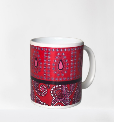 mug cup with African print design