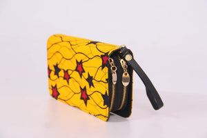 Yellow African Print Wallet