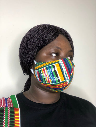 African print fabric facemask - Bnikkycouture