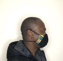 Load image into Gallery viewer, Black,African print Fabric facemask - Bnikkycouture