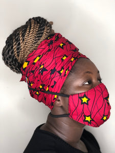 Irawo Headwrap and facemask. - Bnikkycouture