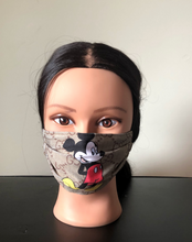 Load image into Gallery viewer, Mickey Mouse Fabric facemask - Bnikkycouture