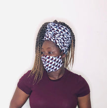 Load image into Gallery viewer, Okin headwrap and facemask - Bnikkycouture