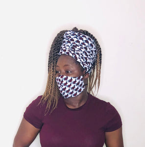 Okin headwrap and facemask - Bnikkycouture