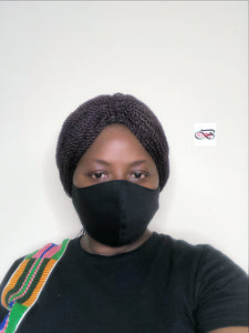 Black fabric facemask - Bnikkycouture