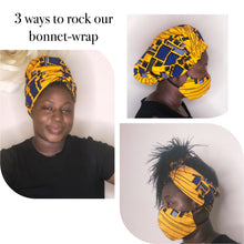 Load image into Gallery viewer, Yellow gold bonnet-wrap