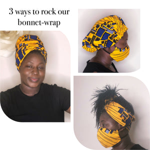 Yellow gold bonnet-wrap