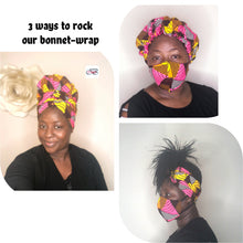 Load image into Gallery viewer, Pinky bonnet-wrap