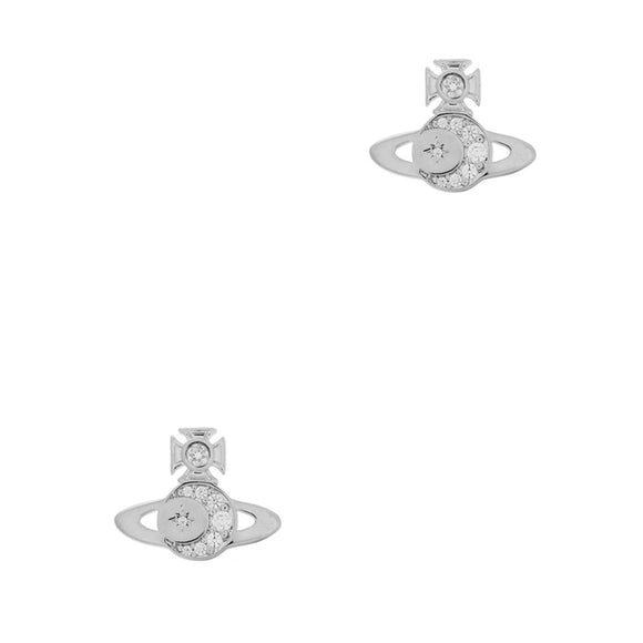 Vivienne Westwood Dorina Orb Silver Tone Earrings