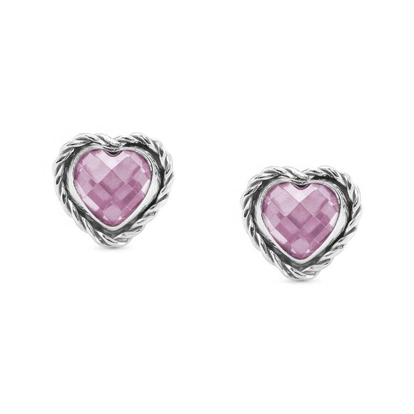 Nomination Silver Heart Earrings