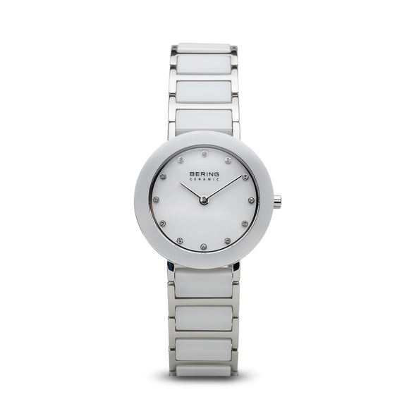 Bering White Ceramic Polished Silver Watch, 11429-754