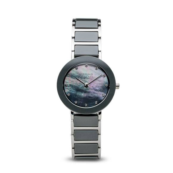Bering Grey Ceramic And Mother Of Pearl Watch, 11429-789