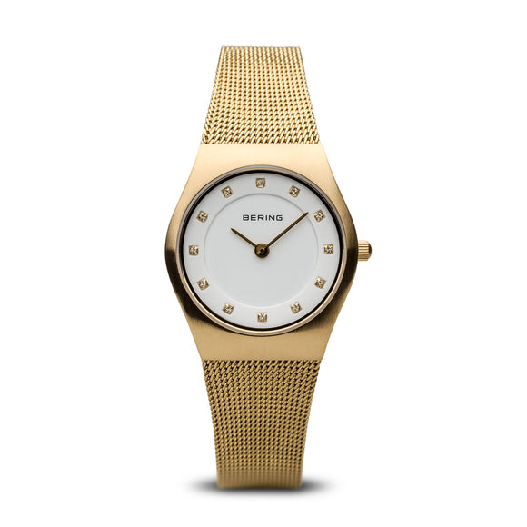 Bering Classic Brushed Gold Watch, 11927-334.