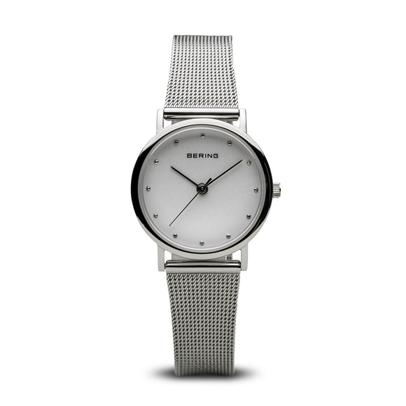 Bering Classic Polished Silver Watch, 13426-000