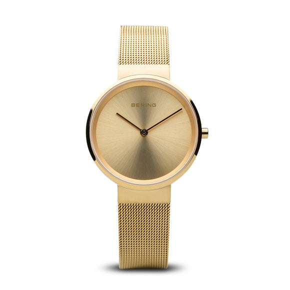 Bering Classic Polished and Brushed Gold Watch, 14531-333