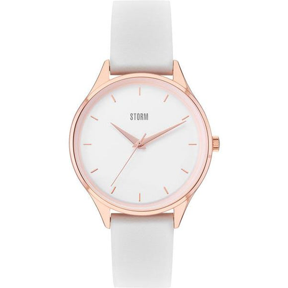 Storm Loreli Rose Gold And White Watch