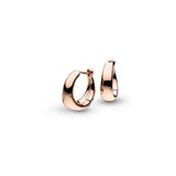 Kit Heath Bevel Cirque Rose Gold Hinged Hoops